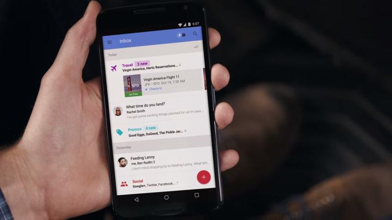 Google Inbox: Auto-Sortierung wird schnell zum Zwang (Copyright: Google)