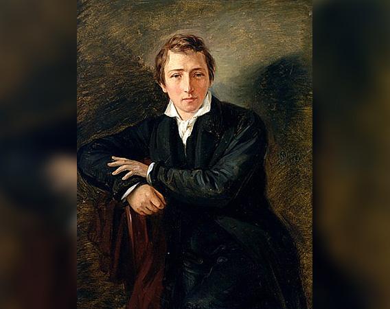 Heinrich Heine (Gemälde von Moritz Daniel Oppenheim, 1831)