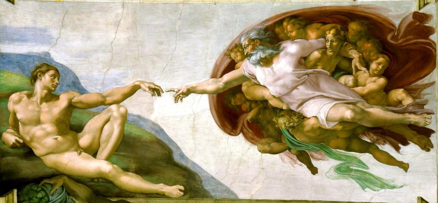 Schlüsselszene: Creación de Adám (Michelangelo Buonarroti)