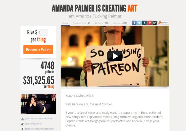 Amanda Palmer auf Patreon