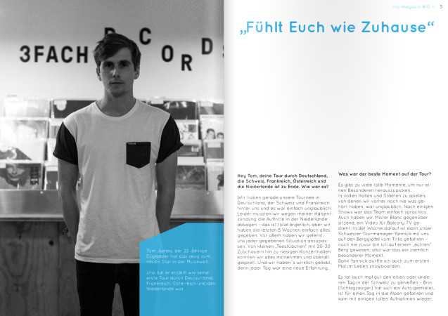 Tom James im tris magazin (Foto: tris magazin)