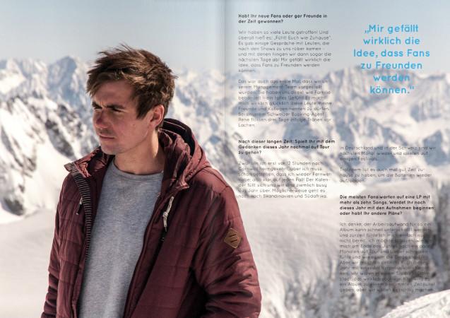 Tom James im tris magazin (Foto: tris magazin)